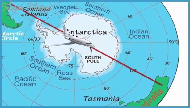 Antarctic Circle Map - TravelsFinders.Com ®