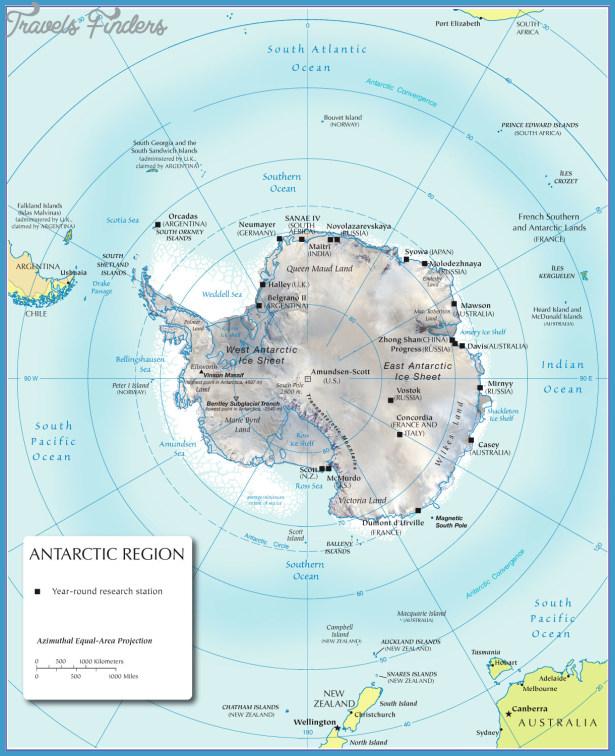 Antarctic Circle On Map - TravelsFinders.Com ®