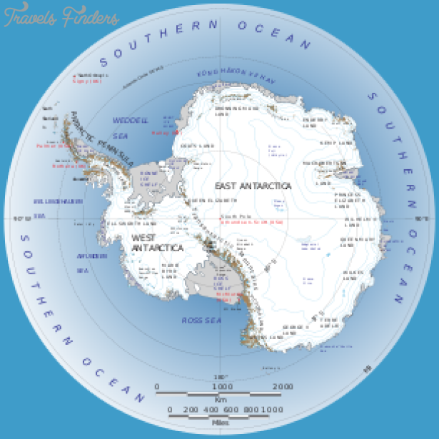 Antarctic Circle On World Map Travelsfinders Com