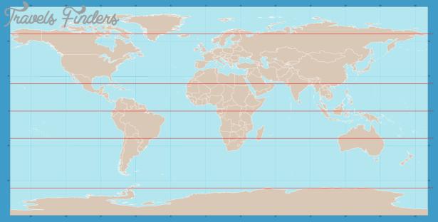 Antarctic Circle On World Map - TravelsFinders.Com ®