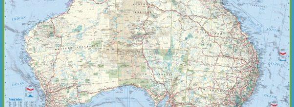 australia map detailed