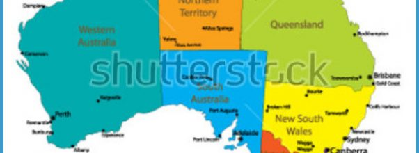 australia map main cities