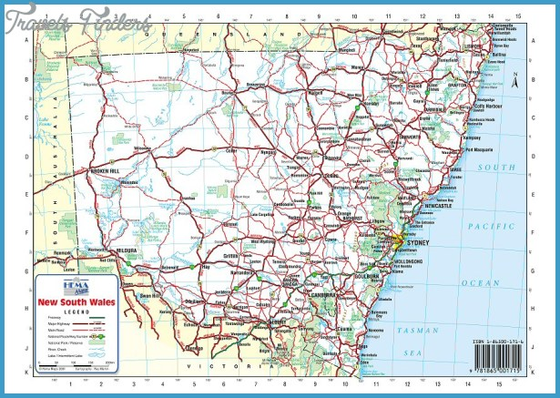 Australia Road Map Online - TravelsFinders Com ®