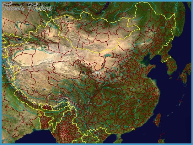 China Map Google Earth   TravelsFinders.®