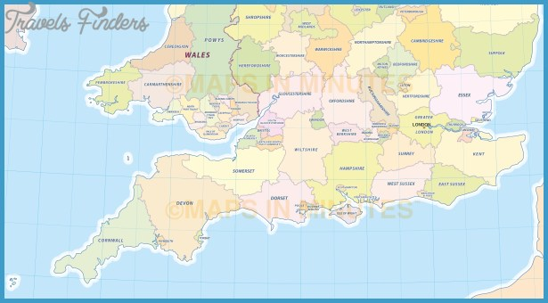 Map Of Counties England.England Map Of Counties Travelsfinders Com