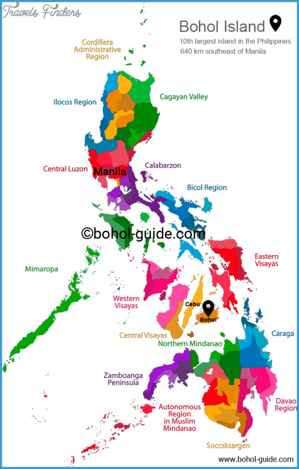 Tourist Map Of The Philippines Cebu Philippines Map Tourist Attractions   TravelsFinders.®