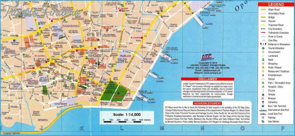 Cebu City Map Guide Cebu Philippines Map Tourist Attractions   TravelsFinders.®