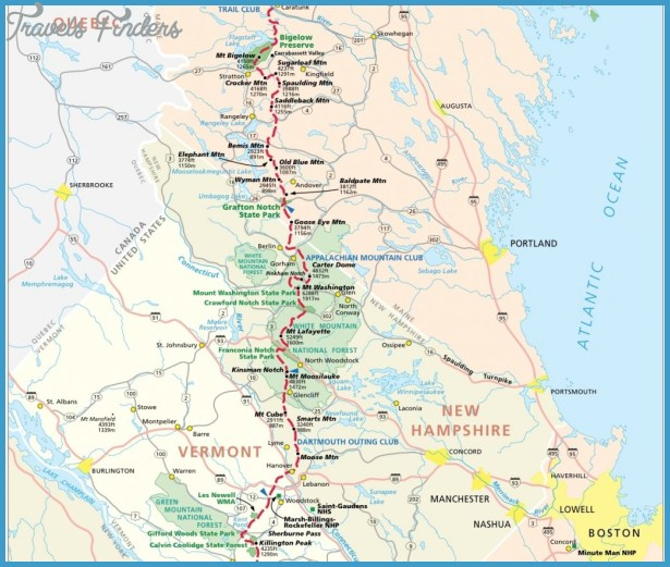 Georgia Hiking Trails Map - TravelsFinders.Com ® on