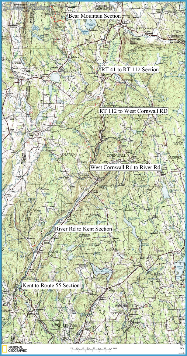 Hiking Appalachian Trail Map - TravelsFinders.Com ® on