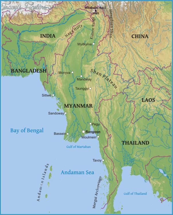 Burma On Map De Myanmar Mapa Myanmar Map Political Regional Maps - Map of burma