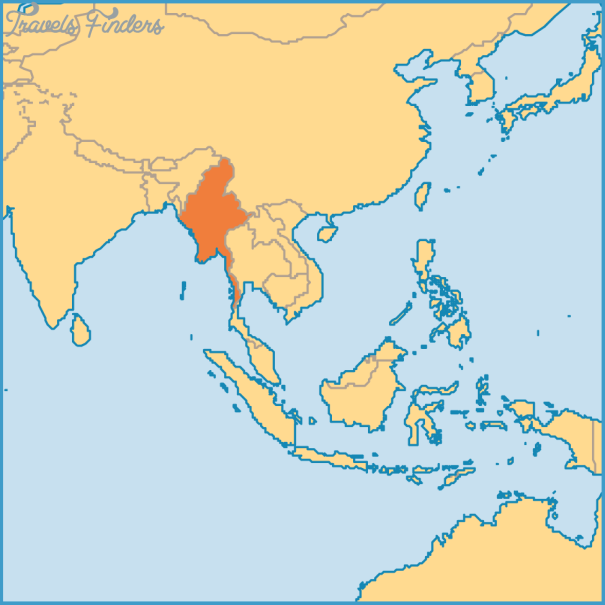 Myanmar On The Map - TravelsFinders.Com ®