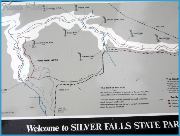 silver falls hiking trail map 1 Silver Falls Hiking Trail Map