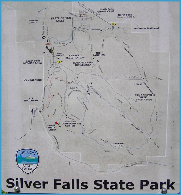 silver falls hiking trail map 5 Silver Falls Hiking Trail Map