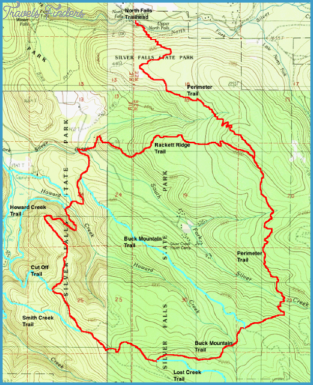 silver falls hiking trail map 9 Silver Falls Hiking Trail Map
