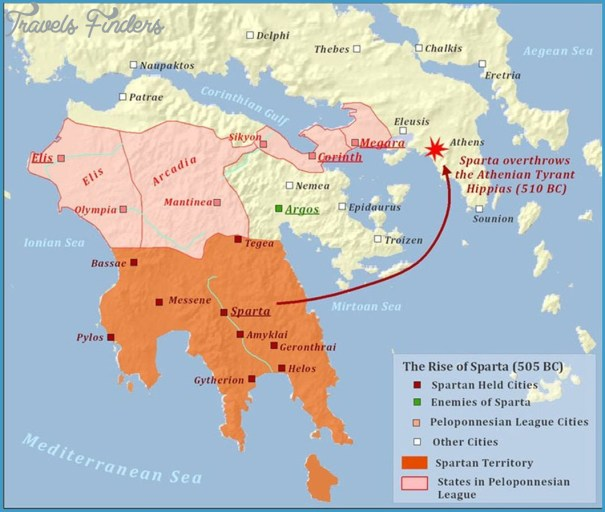 Map Of Sparta Sparta Map   TravelsFinders.®