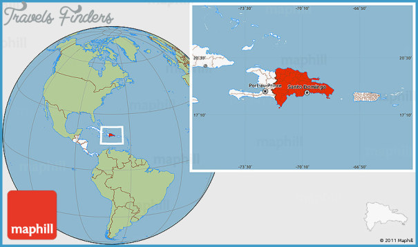 The Dominican Republic Map In World Map - TravelsFinders.Com ®