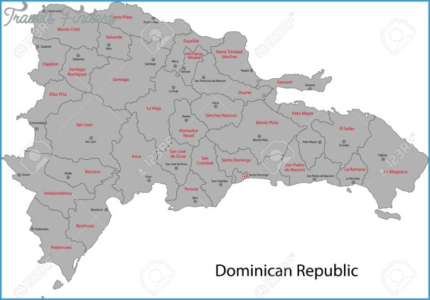 The Dominican Republic Map With Cities _10.jpg