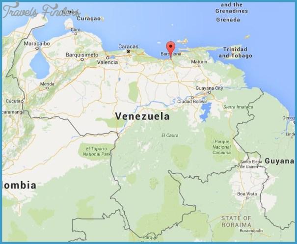 Venezuela Map Location TravelsFindersCom