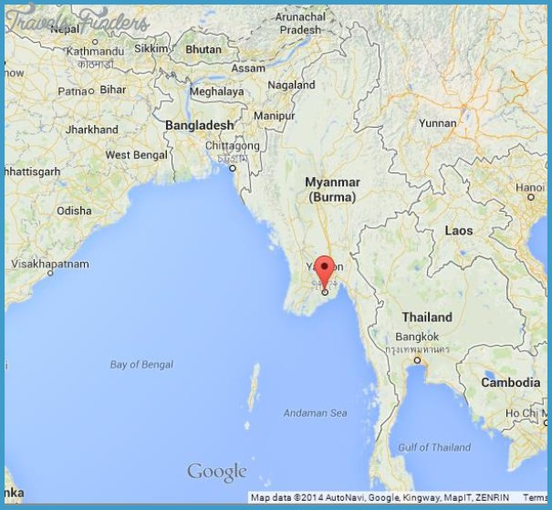 Where Is Yangon Myanmar On Map Travelsfinders Com