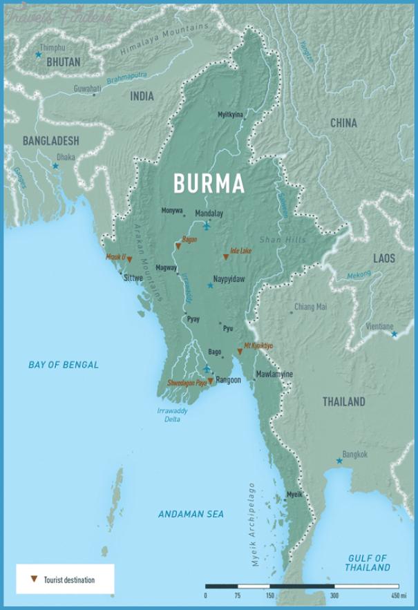 World Map Myanmar Travelsfinders Com