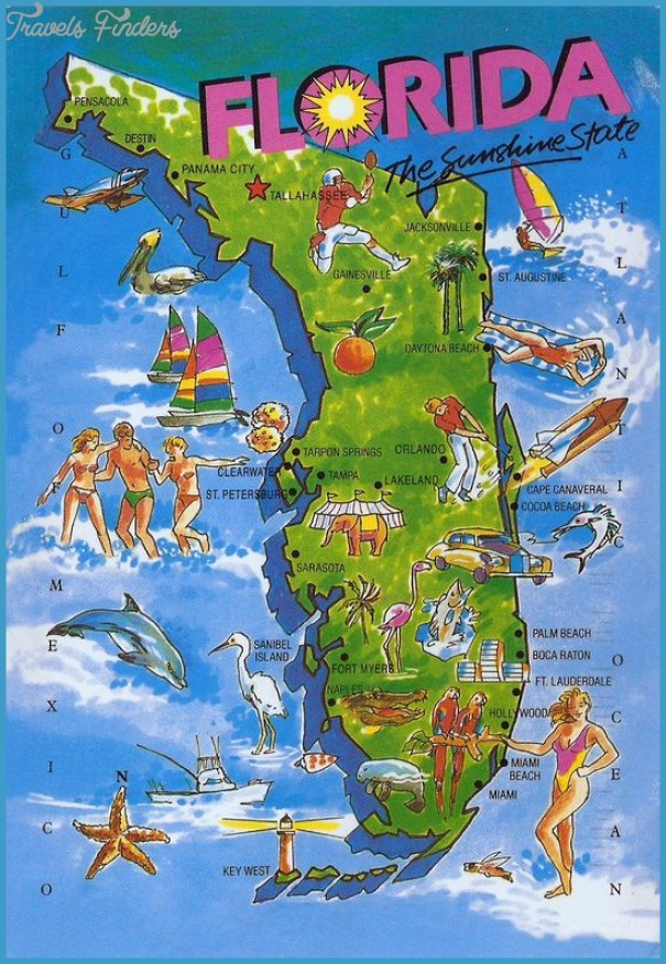 Ft Myers Florida Map.Florida Map Travelsfinders Com