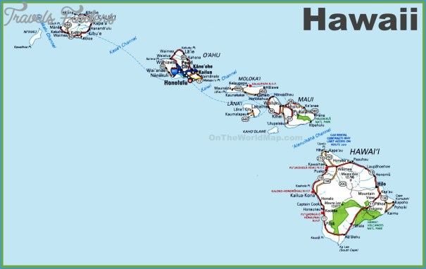 Hawaii Map - TravelsFinders.Com ®