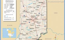 indiana map usa Archives - TravelsFinders.Com ®