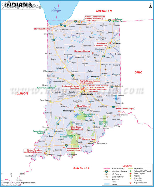 Indiana Map - TravelsFinders.Com