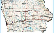 image relating to Printable Map of Iowa identified as printable map of iowa Archives - TravelsFinders.Com ®