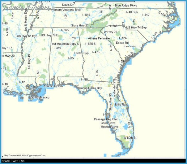 south usa map 8 South USA Map
