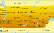 map of tennessee cities and counties Archives - TravelsFinders.Com ®