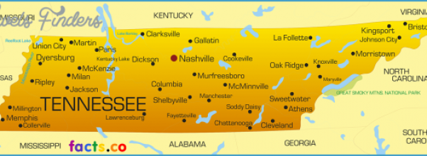 Archives - map of tennessee and surrounding states | TravelsFinders ...