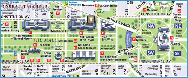 Washington D.C. Map - TravelsFinders.Com ® on