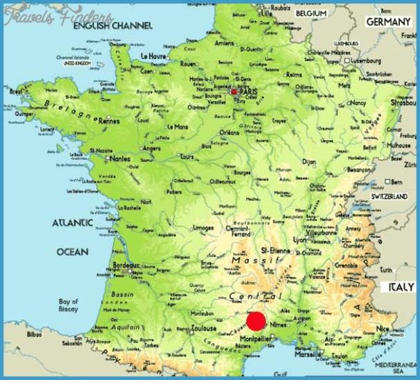 Millau Viaduct Location Map MILLAU VIADUCT BRIDGE MAP   TravelsFinders.®