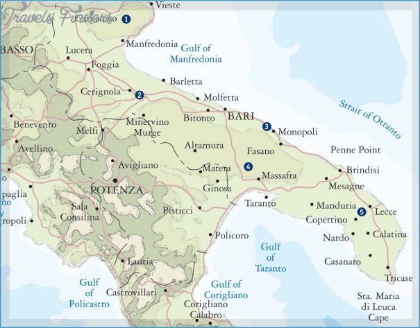 Puglia Map TravelsFindersCom