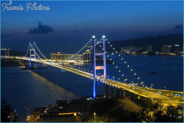 Tsing Ma Bridge Map Travelsfinders Com