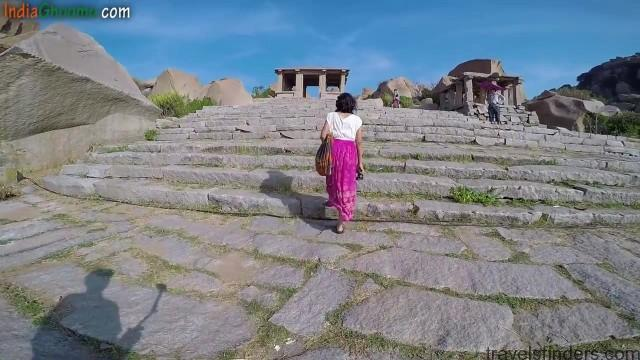 hampi part 4 achyutaraya temple chakratheertha riverside ruins 09