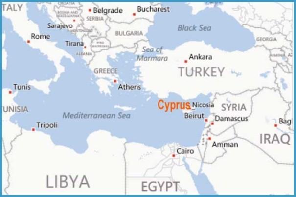 Cyprus Map Location - TravelsFinders.Com ®