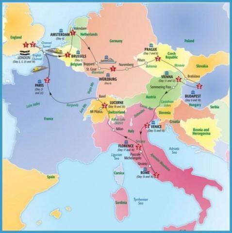 Map Of Austria And Italy Map Of Austria And Italy   TravelsFinders.®