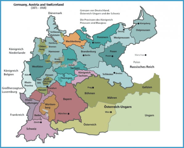 Map Of Germany Jpg.Map Of Germany And Austria Travelsfinders Com