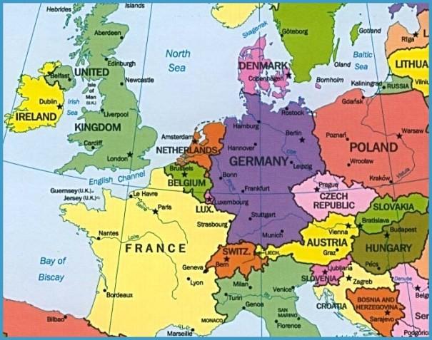 Map Of Germany Switzerland Austria Travelsfinders Com