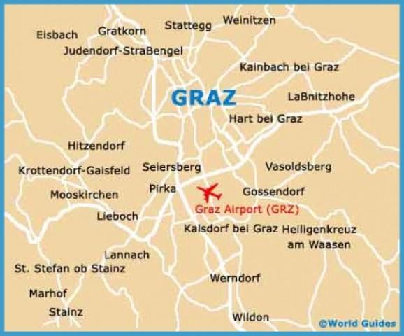 Graz Austria Map Map Of Graz Austria   TravelsFinders.®