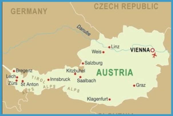 Vienna Austria Map Map Of Vienna Austria   TravelsFinders.®