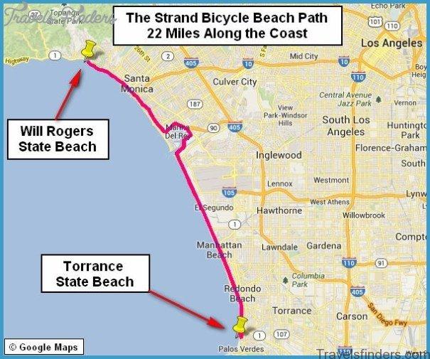 Map of Santa Monica to Venice Beach - TravelsFinders.Com ®