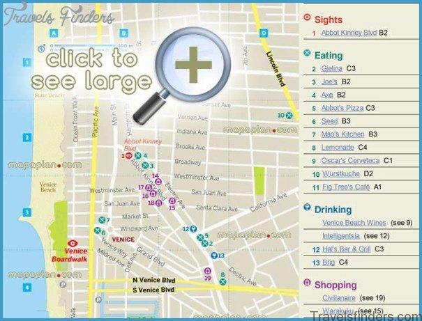 Map Of Santa Monica To Venice Beach Travelsfinders Com