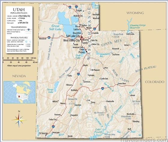 photo relating to Printable Map of Utah named In depth hi there-res maps of Utah for obtain or print
