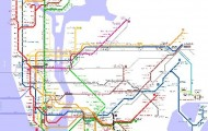 Detailed metro map of New York - download for print out