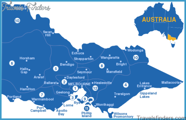 Melbourne Australia Map And Travel Guide Travelsfinders Com