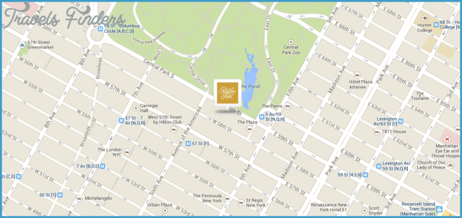 New York City Map | Central Park Hotels | New York City Hotels
