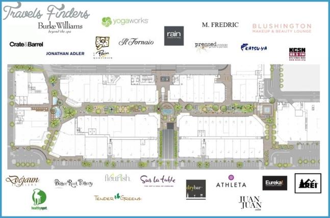Topanga Mall Map Westfield Topanga & The Village Center Map   TravelsFinders.®